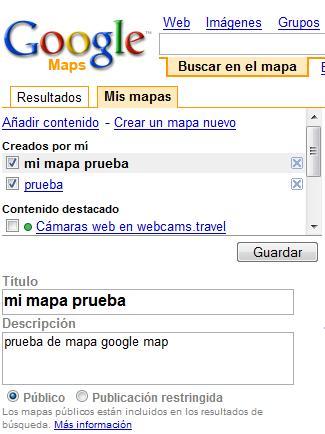 Crear mapa google map