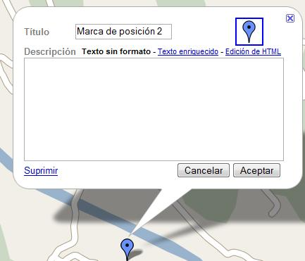 Globo google map extendido