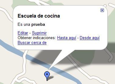 Globo google map extendido con información