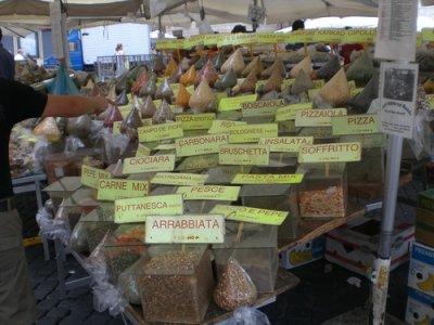 Mercatto di Roma (Mercado de Roma, Plaza Campo de' Fiori)