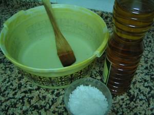 ingredientes para preparar el jabón casero