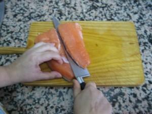 Inclinar el cuchillo