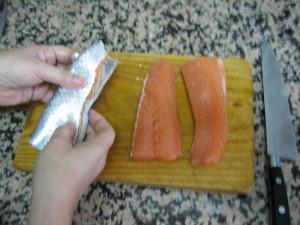 Ya está pelado el pescado